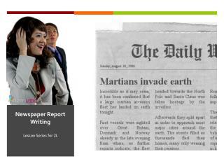 Newspaper Report Writing
