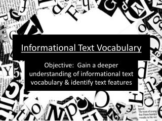 Informational Text Vocabulary