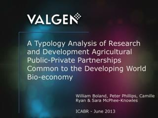 William Boland, Peter Phillips, Camille Ryan & Sara McPhee-Knowles ICABR - June 2013