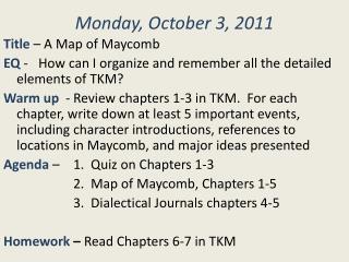Monday, October 3, 2011