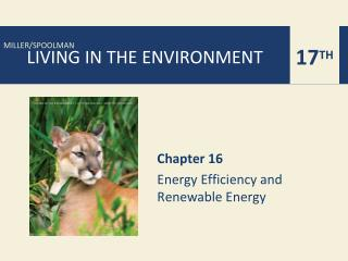 Chapter 16 Energy Efficiency and  Renewable Energy