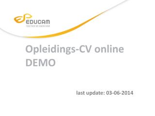 Opleidings -CV online DEMO