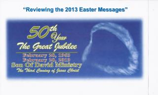 """Reviewing the 2013 Easter Messages"""