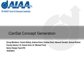 CanSat Concept Generation