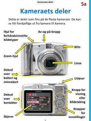 Kameraets deler