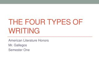 The four types of writing