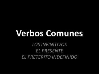 Verbos Comunes