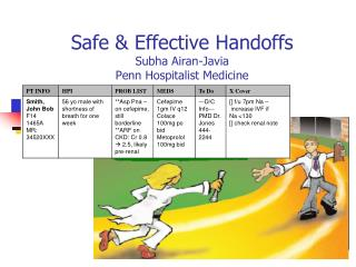 Safe & Effective Handoffs Subha Airan-Javia Penn Hospitalist Medicine