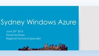 Sydney Windows Azure