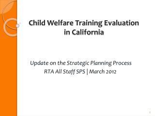 Child Welfare Training Evaluation in California