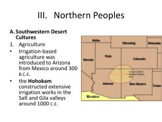 III.	Northern Peoples