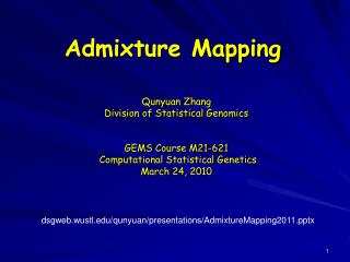 Admixture Mapping