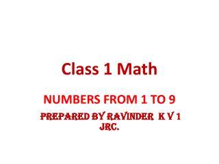Class 1  Math