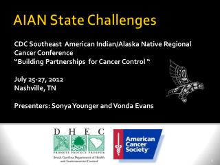 AIAN State Challenges