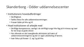 Skanderborg - Odder  uddannelsescenter