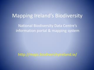 Mapping Ireland's Biodiversity