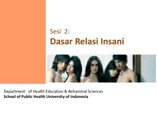 Department   of Health Education & Behavioral Sciences