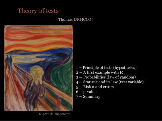 Theory  of tests