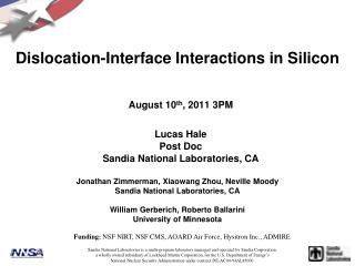 Dislocation-Interface Interactions in Silicon