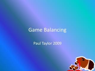 Game  Balancing