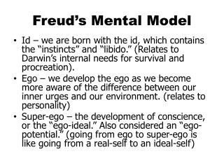 Freud's Mental Model