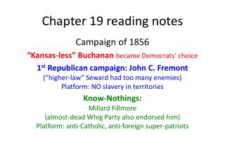 Chapter 19 reading notes