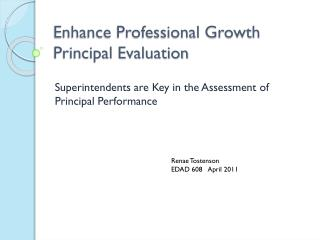 Enhance Professional Growth Principal Evaluation