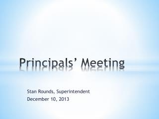 Principals' Meeting