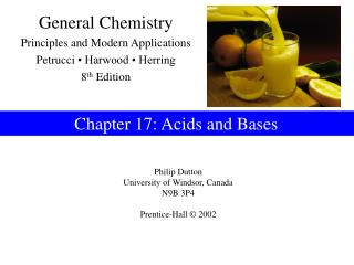 Chapter 17: Acids and Bases
