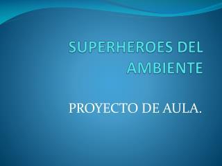 SUPERHEROES DEL AMBIENTE