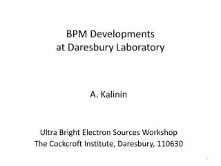 BPM Developments  at Daresbury Laboratory