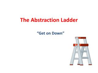 The Abstraction Ladder