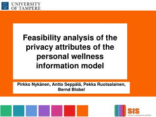 Feasibility analysis  of the  privacy attributes  of the  personal wellness information model