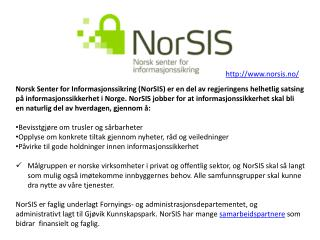 http://www.norsis.no/