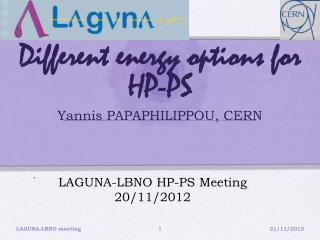 Different energy options for HP-PS