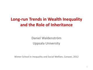 Long-run Trends in Wealth Inequality and the Role of Inheritance