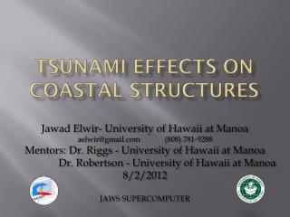 Tsunami effects on coastal structures
