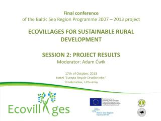 Project  output: manual on social experiences  applied  in ecovillages
