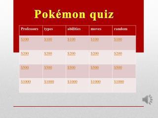 Pokémon quiz