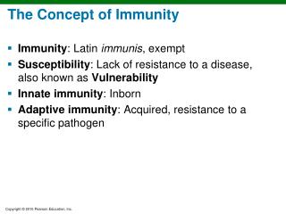 The Concept of Immunity