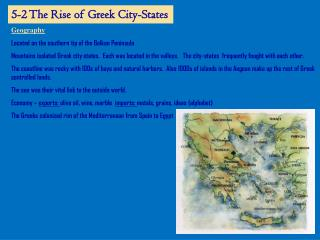 5-2 The Rise of Greek City-States