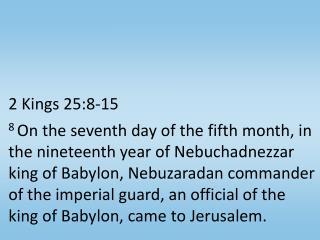 2 Kings 25:8-15