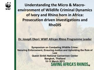 Trafficking of rhino horn from Africa to East Asian Markets