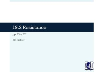 19.2 Resistance