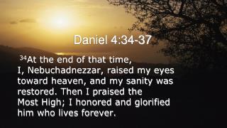 Daniel 4:34-37