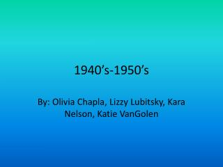 1940's-1950's