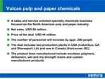 Vulcan pulp and paper chemicals