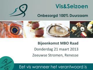 Bijeenkomst MBO Raad Donderdag 21 maart 2013 Zeeuwse Stromen, Renesse