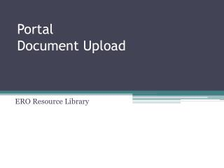Portal Document Upload