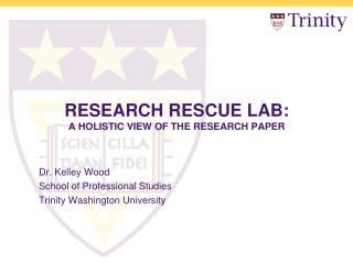 Research Rescue Lab:  A  Holistic View of the Research Paper